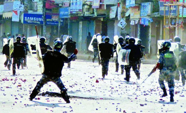 Nepalese police-madhesh-protest
