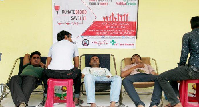 वीरगन्ज : बृहत् रक्तदान कार्यक्रम सम्पन्न