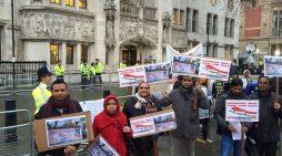 लण्डन : संसद भवन अगाडि मधेशीहरुले गरे प्रदर्शन